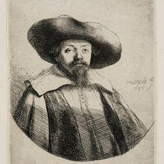 Rembrandt, Portret Samuel Manasseh Ben Israel ( B 269 ), 1636. Teylers Museum