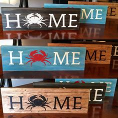 Home signs for us Maryland Blue Crab, Chesapeake Bay lovin people!! Made with the help of UL!!