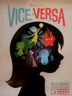 """""""In France, Pixar's upcoming film INSIDE OUT is called VICE-VERSA and it's got a cool poster too."""""""
