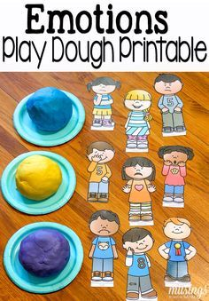 Grab your free printable emotions pretend play set, perfect for playdough fun or sensory bin play! This fun kids' activity is a great way for children to learn about emotions. Social Emotional Activities, Emotions Activities, Social Emotional Development, Counseling Activities, Fun Activities For Kids, Preschool Activities, Articulation Activities, Emotions Preschool, Early Childhood Education
