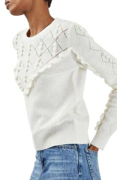 Topshop Ruffle Bobble Sweater