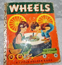 """Little Golden Book FIRST EDITION - """"Wheels"""" - Published 1952 by Simon and Schuster  #SALE $6.00 #peachesandcorn"""