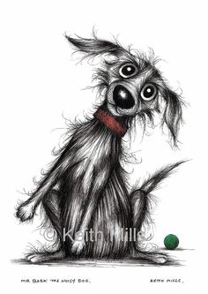 Mr Bark the noisy dog Print download by KeithMills on Etsy, £3.00