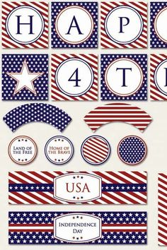 Classic Fourth Of July Party Printable