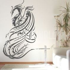 Wall Decals - Phoenix Bird Tattoo - Wall Stickers