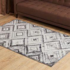 Burnish Praline Geometric Print Carpet - 120 x 180 cm Blush And Grey Living Room, Carpet Design, Cover, Prints, Home Decor, Interior Design, Blanket, Home Interior Design, Printmaking