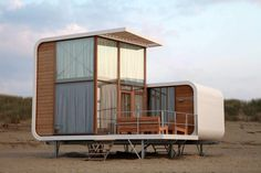 Beach house Nieuwvliet - TOP 10 of the most beautiful beach houses Netherlands - Container Shop, Container House Design, Beautiful Beach Houses, Beautiful Beaches, Tiny Beach House, Tiny House, Raised House, Holland House, Zaha Hadid Design