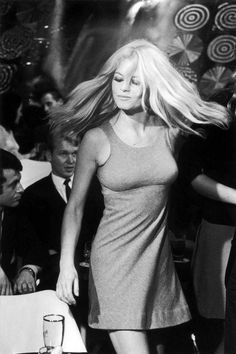 French actress and sex symbol Brigitte Bardot stage name of Camille Javal, dancing in a scene from the film 'Two Weeks In September' with Mike Sarne Bridgitte Bardot, Catherine Deneuve, Brigitte Bardot Style, Brigitte Bardot Young, Isabelle Adjani, French Actress, Jane Fonda, Bridget Fonda, Diana Ross