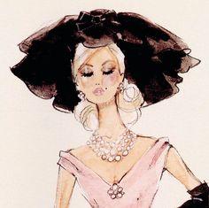 Blush Becomes Her 2001 Silkstone Barbie Robert Best Sketch BFMC
