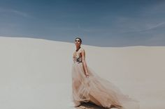 Sarah Seven. wedding gown. tulle wedding gown. colored wedding gown. wedding dress.