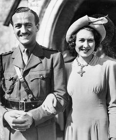 After a whirlwind 2-week romance in 1940 David Niven and Primula Rollo married.  In 1946, six weeks after they moved to Hollywood, she died of an accidental fall, at the age of 28, in the home of Tyrone Power.  In 1948 he married Swedish fashion model  Hjördis Paulina Tersmeden.  They remained married until his death in 1983.