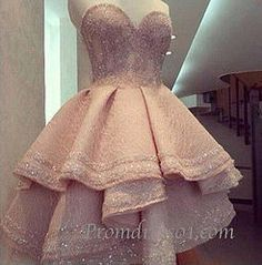 Sweetheart pink high-low gown, homecoming dress #promdress $192.99