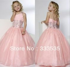 Pretty Beadings Girls Pageant Dresses Princess One-Shoulder Ball Flower Girls' Dresses Flower Girls, Cheap Flower Girl Dresses, Little Girl Dresses, Cheap Dress, Junior Bride Dresses, Girls Pageant Dresses, Pageant Wear, Kids Gown Design, Junior Bridesmaid Dresses