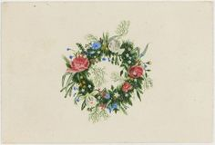 A flower wreath Fanny Sundblad