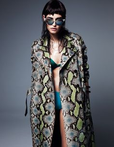 Mmmm snakeskin prints...:) bianca balti giampaolo sgura7 Bianca Balti in Cutting Edge Style for Fashion Issue #2 by Gianluca Fontana