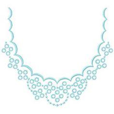 Neckline Design embroidery design