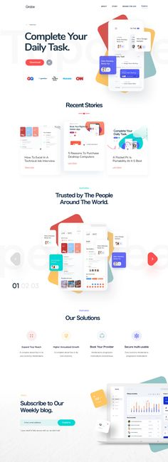 Mobile App, Landing Page Design Web Design Software, Web Ui Design, Web Design Trends, Graphic Design, Flat Design, Design Design, Design Websites, Design Templates, Landing Page Examples