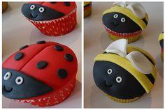 #ladybird #bumblebee #cupcakes