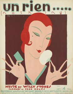 René Magritte's Little-Known Art Deco Sheet Music Covers from the 1920s – 'Un Rien … (Nothing),' sheet music cover (1925). 13 3/4×10 3/4 inches, 35×27 1/4 cm. Éditions Musicales de l'Art Belge, Brussels.