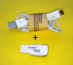 Micro USB Charging/Sync Data Cable with Card Reader offer 100/-