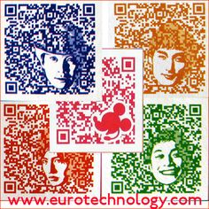 QR Codes great way to express your mail art, collage or pop art