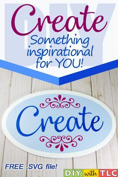 Decorate your crafting space with this inspirational sign that you can stencil - Cut your own stencil from the free design Do It Yourself Crafts, Crafts To Make, Diy Craft Projects, Craft Tutorials, Diy Home Accessories, Weekend Crafts, Leaf Crafts, Handmade Decorations, Diy Gifts