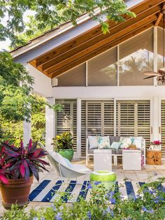 This outdoor space makes us feel like we're on a permanent vacation. And we're okay with that! #hgtvmagazine http://www.hgtv.com/decorating-basics/a-show-stopping-house-tour/pictures/page-7.html?soc=pinterest