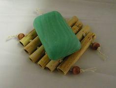 Natural Bamboo Soap Dish | BusyCrowStudio - Bath & Beauty on ArtFire