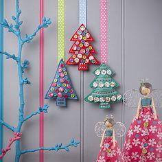 Button Tree Christmas Decoration