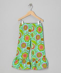 Take a look at this Aqua Tropical Oasis Capri Pants - Infant, Toddler & Girls by Waistin' Away on #zulily today!