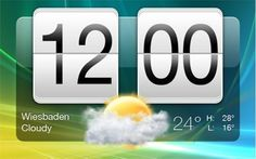 HTC Sense Clock Android Style PSD - http://www.welovesolo.com/htc-sense-clock-android-style-psd/