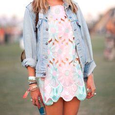 love a jean shirt over a dress //