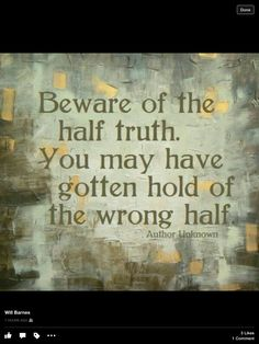 The Whole Truth Will Set You Free!