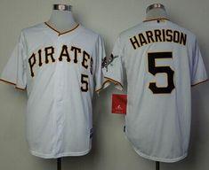 a444a6dacf2 Pirates  5 Josh Harrison White Cool Base Stitched MLB Jersey Nhl Jerseys