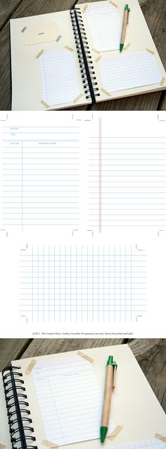 Free Vector Notebook Papers And Cover   Print Me For Free