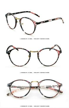 8061311492 Women Clothing Pink floral prescription glasses frame black floral eyewear  for women women spec.