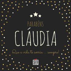 Postal de Aniversário para a Cláudia