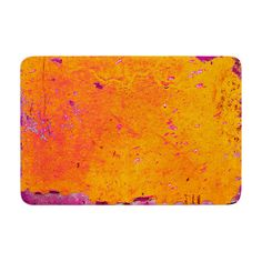 Memory Foam Bath Mat Iris Lehnhardt Orange Purple by KessInHouse