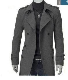 Frete grátis 2015 de moda de nova coreano moda dragona casaco de lã breasted pug e longo tamanho M 3XL em Sobretudos de Roupas e Acessórios - Masculino no AliExpress.com | Alibaba Group