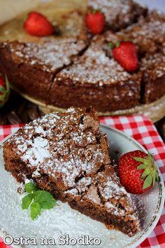 BROWNIE JAGLANE ( z kaszy jaglanej ) - dietetyczne - najlepsze - BE FIT! Stevia, Tiramisu, Sweets, Breakfast, Ethnic Recipes, Cakes, Pie Cake, Amor, Diet