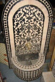 Marokkaanse Mozaiek fonteinen. Mozaiek Marokko het adres voor uw Mozaiek fontein