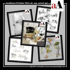 The Details.NewART has arrivedin the  store.  Each of the 5individual digital products is20%offor available as a collection discounted by44%throughFriday November 06, 2015 at 9am EDT.  #digitalscrapbooking #scrapbooking #photosharing #art #design #photos #memories #editing #digital #computer #crafts
