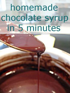 Homemade Chocolate Syrup in 5 Minutes ~ It was more chocolatey than store bought chocolate syrup and it has a really smooth texture... delish!