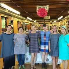 Such a lovely day teaching these ladies to make this Shift Dress from my book #skirtsanddressesforfirsttimesewers! Thanks @superbuzzy23 for having me! #christinehaynespatterns