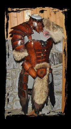 barbarian female leather armor by Lagueuse.deviantart.com on @deviantART