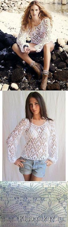 Blusa delicada. Debate sobre L | <br/> Crochet