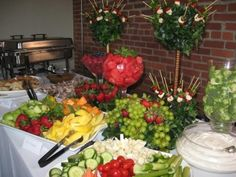 buffet and banquet displays - Yahoo Image Search Results Wedding Reception Food, Wedding Catering, Wedding Ideas, Reception Ideas, Banquet Ideas, Wedding Receptions, Wedding Stuff, Wedding Inspiration, Gourmet Breakfast