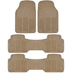 Comentry Floor Mats : ... Floor Mats - 4-Piece Set Beige Heavy Duty Car Interior Floor Mats