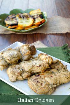 Italian Chicken. Flavors of Italian dressing marinate this easy chicken dinner.