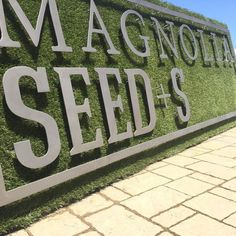 Here's a sneak peek at the sign for our new garden shop, Magnolia Seed and Supply! We can't wait for summertime at the #MagnoliaSilos! Opening date coming soon! #MagnoliaSeedSupply